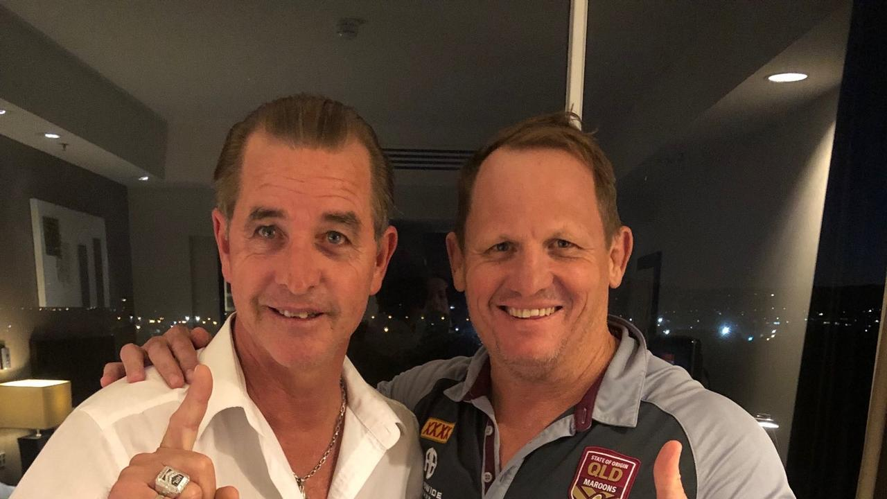 The coach whisperer Bradley Charles Stubbs (left) with Queensland coach Kevin Walters.