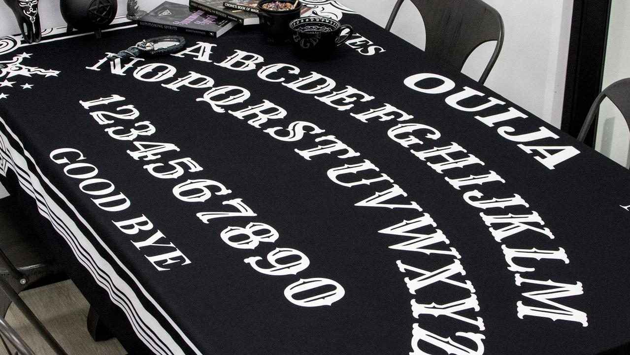 The Ouija tablecloth. Picture: Supplied