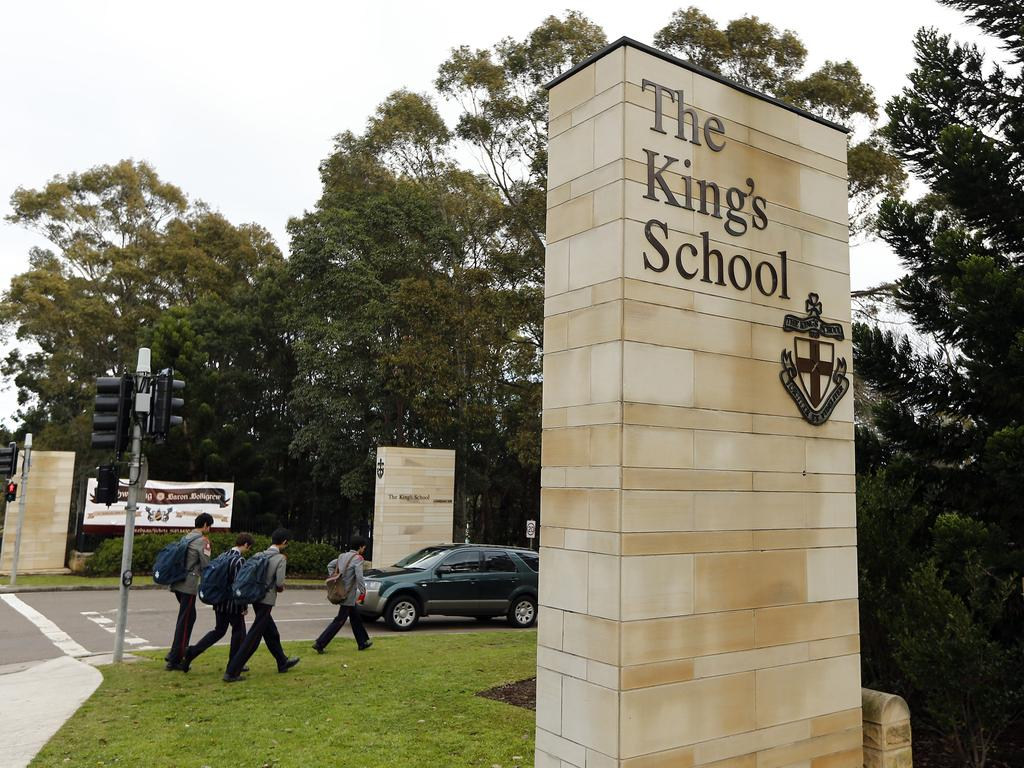 The entrance to The King's School at Parramatta.