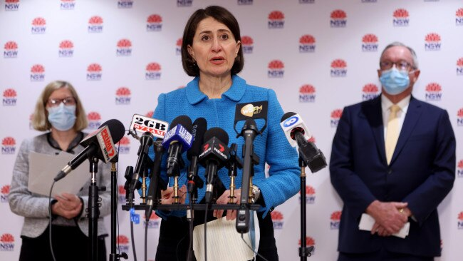 Premier Gladys Berejiklian has revealed she is a 'casual contact' in the latest COVID-19 cluster to break out in NSW. Picture: NCA NewsWire / Damian Shaw