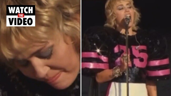 Miley Cyrus breaks down performing Wrecking Ball before the Super Bowl
