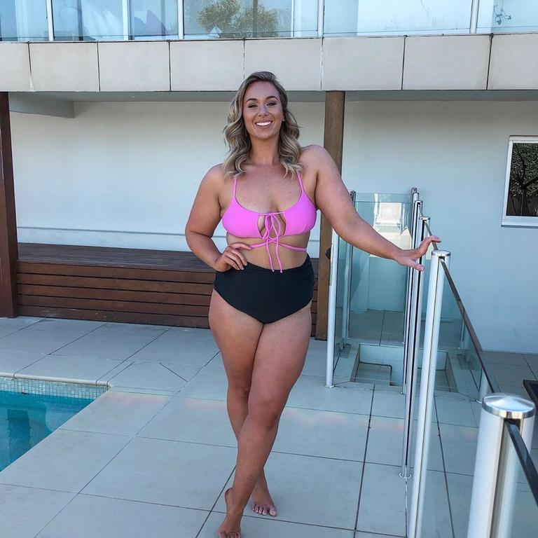 The size 16 teacher has over 180,000 followers who adore her body positive message. Picture: Instagram / Dedikated Lifestyle