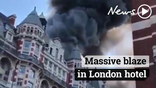 Massive blaze in London hotel
