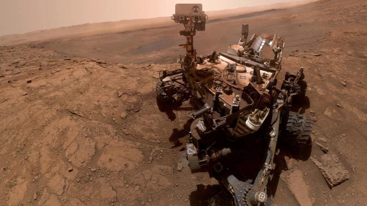 Curiosity's selfie, made up of 37 images taken by the rover's robotic arm. Picture: NASA/JPL-Caltech/MSSS