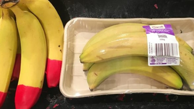 Some commenters suggested that bananas don't need packaging. Picture: Supplied