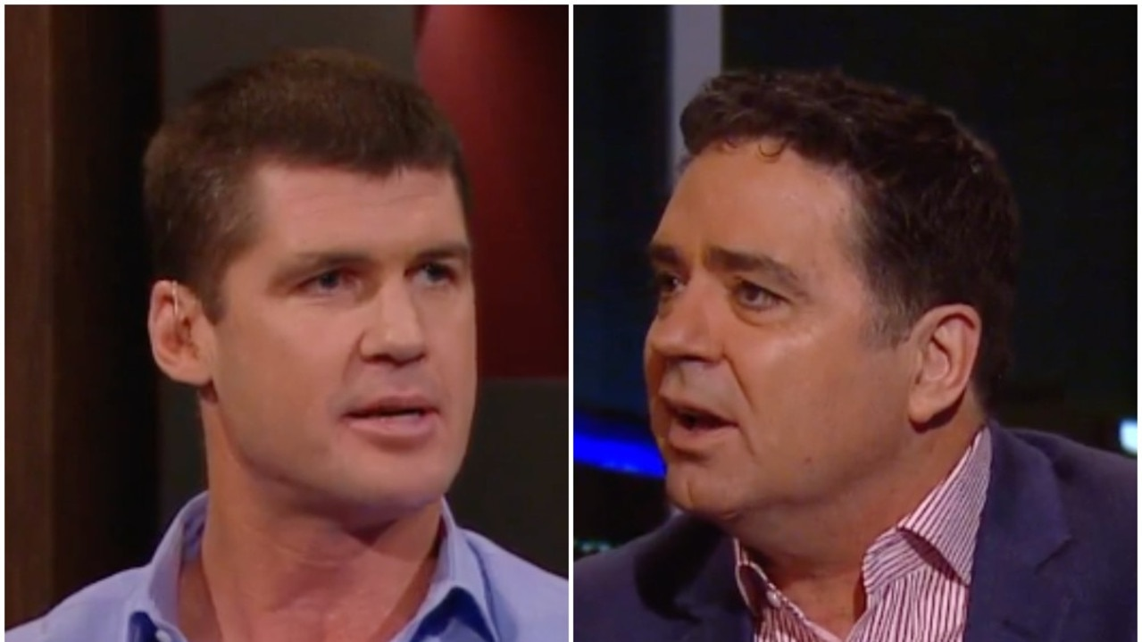 Jonathan Brown and Garry Lyon went head-to-head during On the Couch.