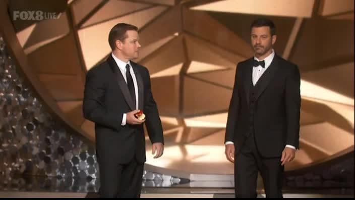 Matt Damon roasts Jimmy Kimmel at the Emmys