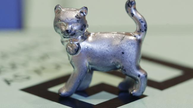 The cat was brought in as the newest token after a savvy poll by the brand. Picture: AP Photo/Steven Senne.