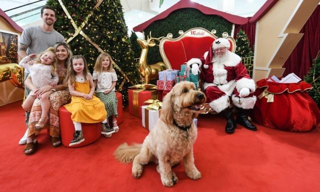 Westfield shopping centre Santa Claus photos