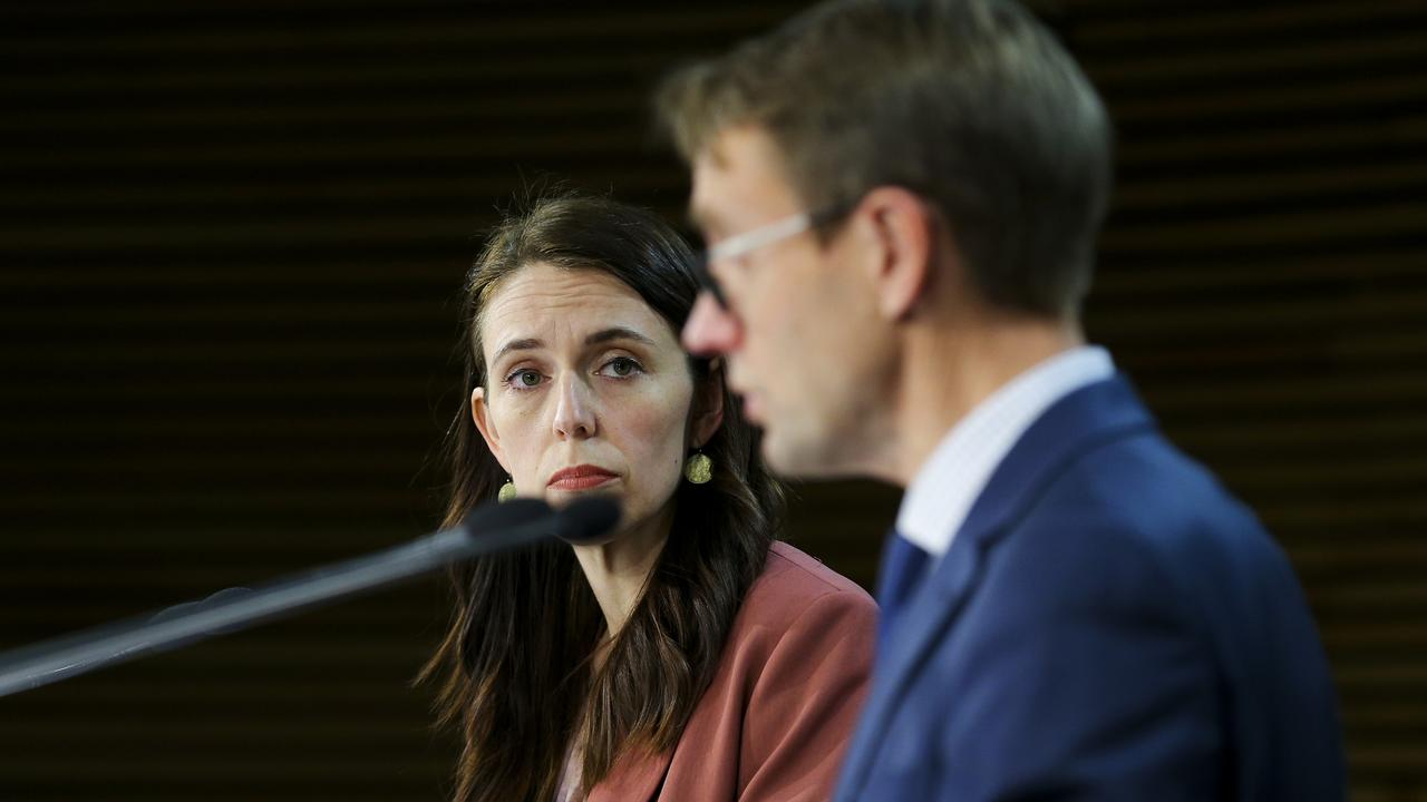 PM Jacinda Ardern announced NZ is going to go into lockdown for three days,while Auckland and Coromandel will go into lockdown for seven days, following a positive case. Picture: Hagen Hopkins/Getty Images