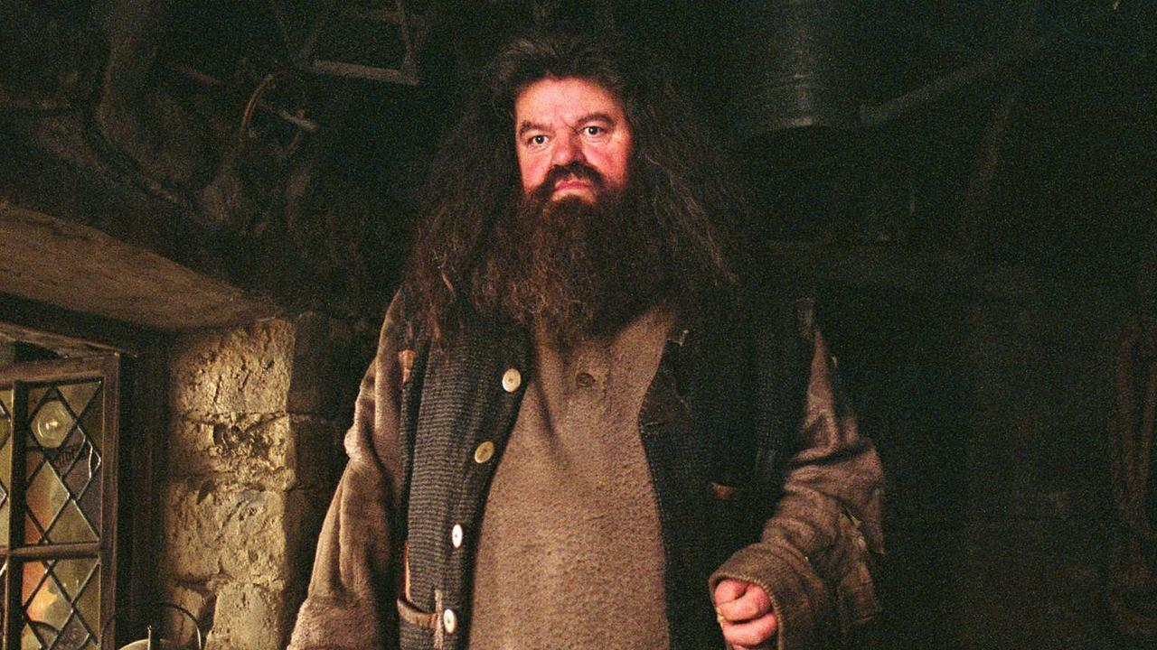 Robbie Coltrane as Hagrid in Harry Potter. Picture: Supplied