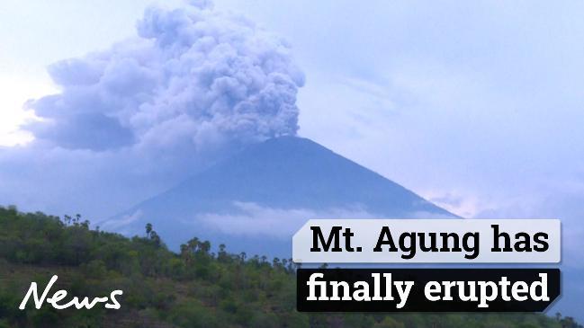 Mt Agung has finally erupted