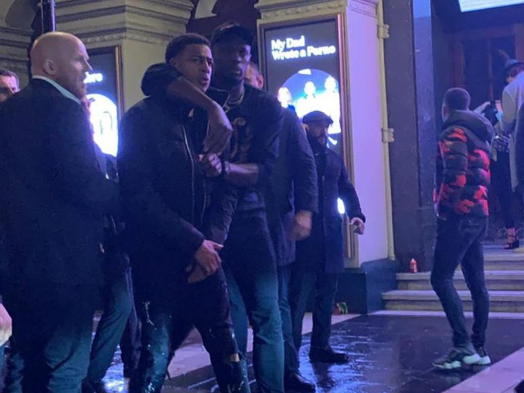 Usain Bolt and his entourage were caught up in a brawl in London.