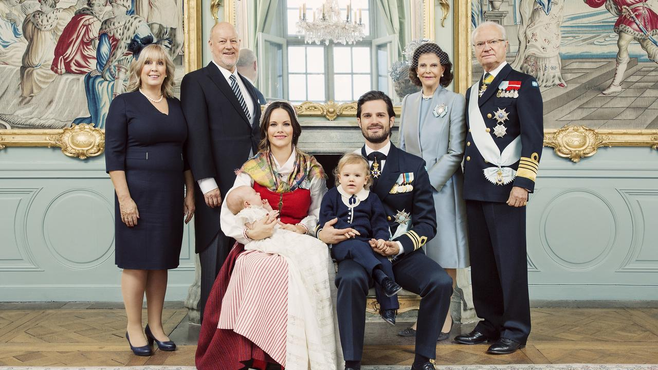 The Swedish royal family pose for Gabriel's christening portrait in 2017. Picture: Erika Gerdemark/Royal Court of Sweden