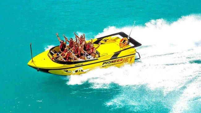 Speed into holiday mode with an Airlie Beach jet boat ride. Picture: Supplied