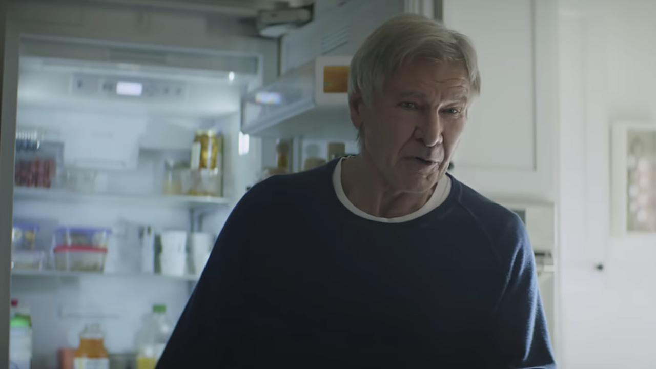 Amazon pokes fun at itself as celebrities from Harrison Ford to astronaut twins Mark and Scott Kell. Picture: Amazon via AP