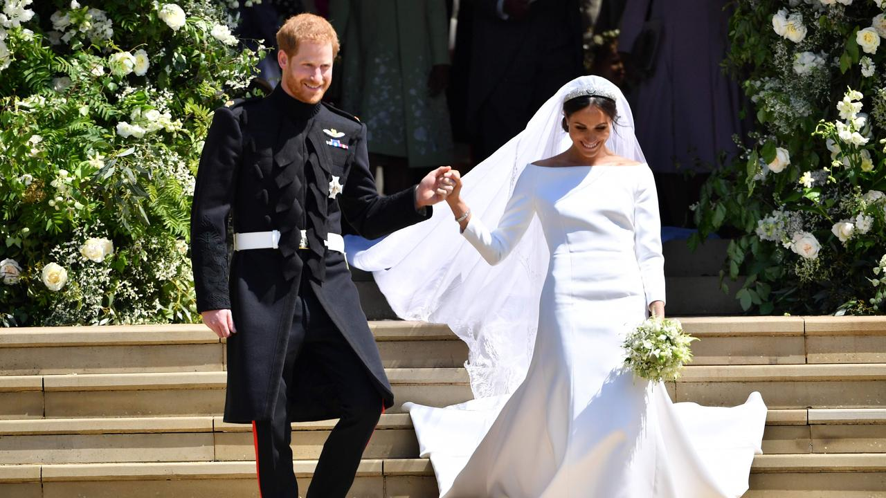 Harry and Meghan married in 2018. Picture: Ben Stansall / AFP