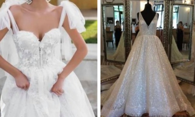 The two dream dresses in debate. Source: Facebook/That's It I'm Wedding Shaming