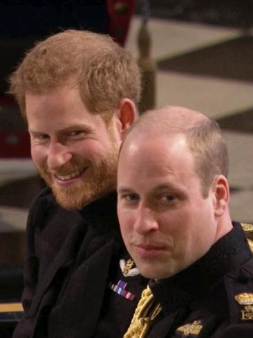 The royal brothers. Picture: AP