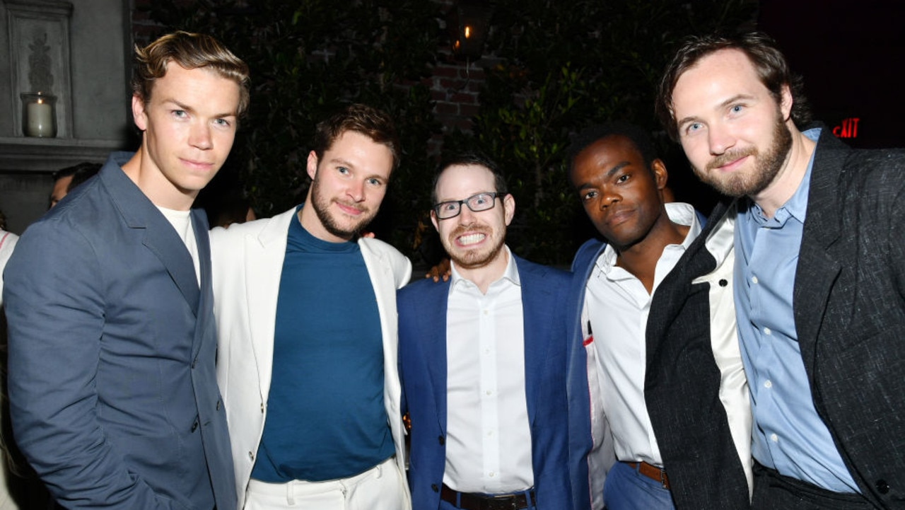 Aster (in the centre) with his Midsommar cast Picture: Amy Sussman/Getty