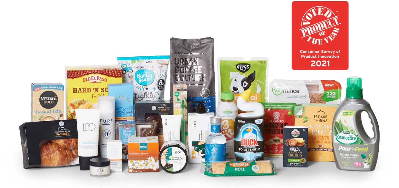 Australians have voted for these supermarket products as their favourites. Image: Supplied