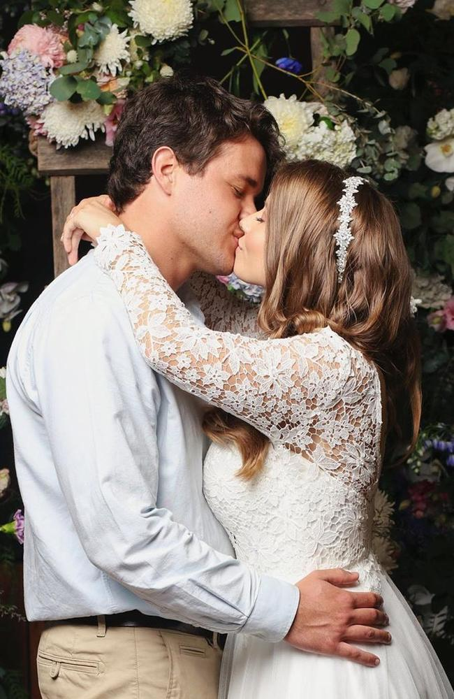 Chandler and Bindi married in a small ceremony in March because of coronavirus restrictions. Picture: Instagram.