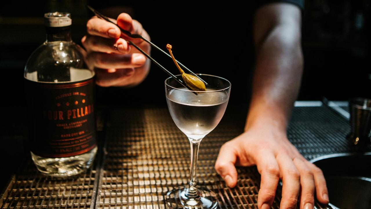 Learn the art of making a martini at the Four Pillars Sydney Lab. Picture: Supplied