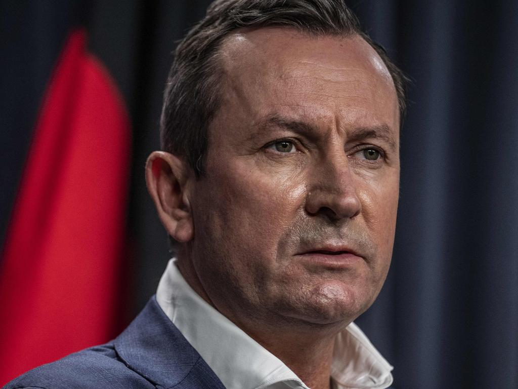 PERTH, AUSTRALIA  - NewsWire Photos APRIL 26, 2021: Premier of Western Australia, Mark McGowan speaks to the media on day 3 after the State Government ordered a three day lockdown when a man  was found to be Covid positive after leaving hotel quarantine. NCA NewsWire / Tony McDonough