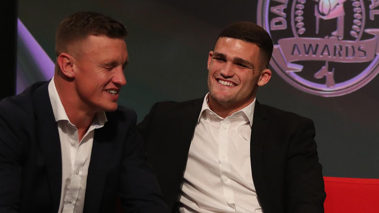 Dally M winner Jack Wighton insists the players were unaware the result had been leaked.