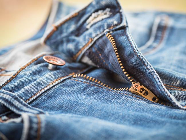This shows the zipper tab in the downward position, aka 'locked off'.