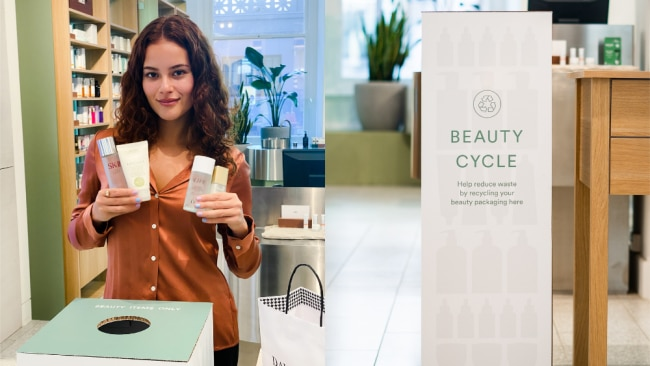David Jones launches new beauty recycling scheme. Image: Supplied