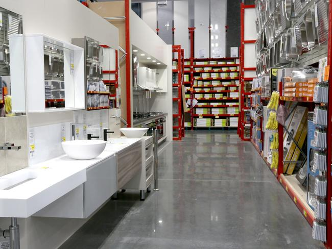 Bunnings offers customers everything from nails to the kitchen sink in one spot. Picture: Nikki-Davis Jones
