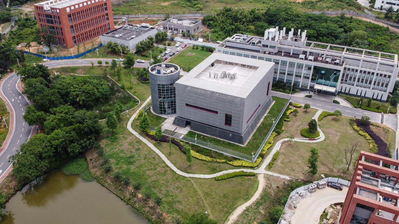 This aerial view shows the P4 laboratory (C) on the campus of the Wuhan Institute of Virology in Wuhan in China's central Hubei province. Picture: Hector Retamal/AFP