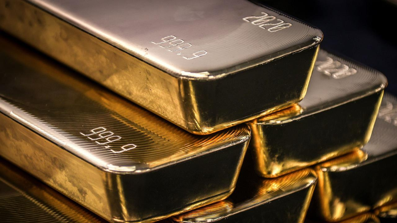 Investors retreated to safe haven gold stocks. Picture: David Gray/AFP