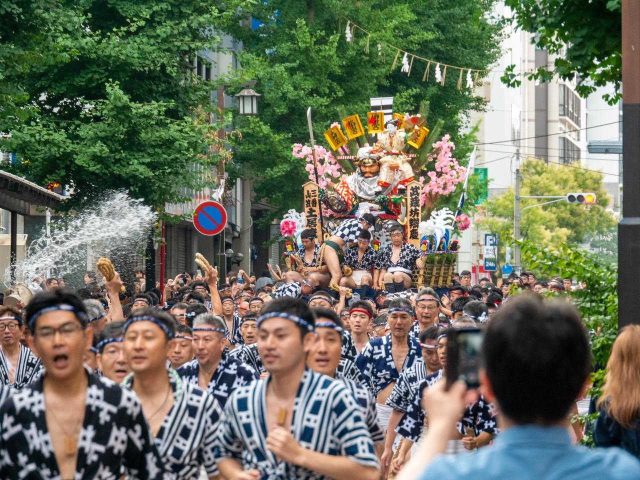 one of Japanese summer festival in local city.