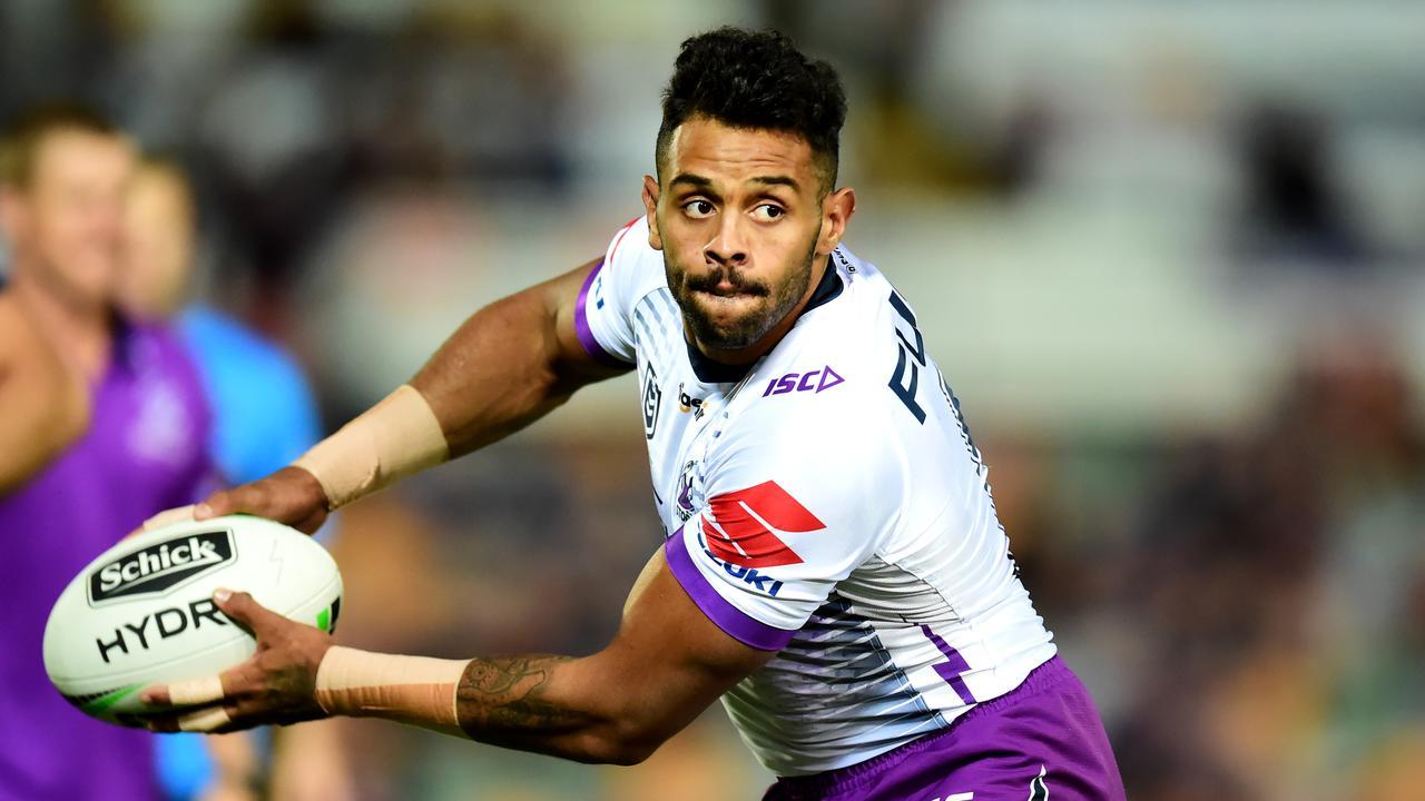 Josh Addo-Carr . NRL; North Queensland Cowboys Vs Melbourne Storm at 1300 Smiles Stadium. Picture: Alix Sweeney