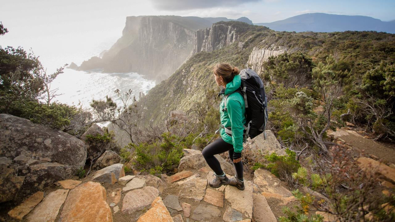 There are many different ways to conquer Tasmania's Three Capes Track.  Picture: Stu Gibson