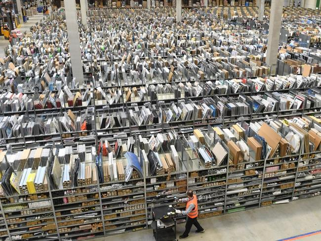 Amazon employees reportedly needed to use four flights of stairs to go to the bathroom. Picture: Supplied