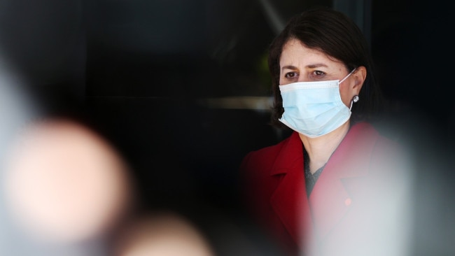 Face masks have been made mandatory 'at all times' and travel strictly limited to a five kilometre radius for residents of eight LGAs of concern. Picture: Getty Images
