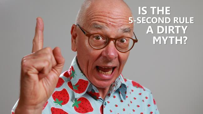 "Dr Karl discusses, ""Is the 5 second rule a dirty myth?"""