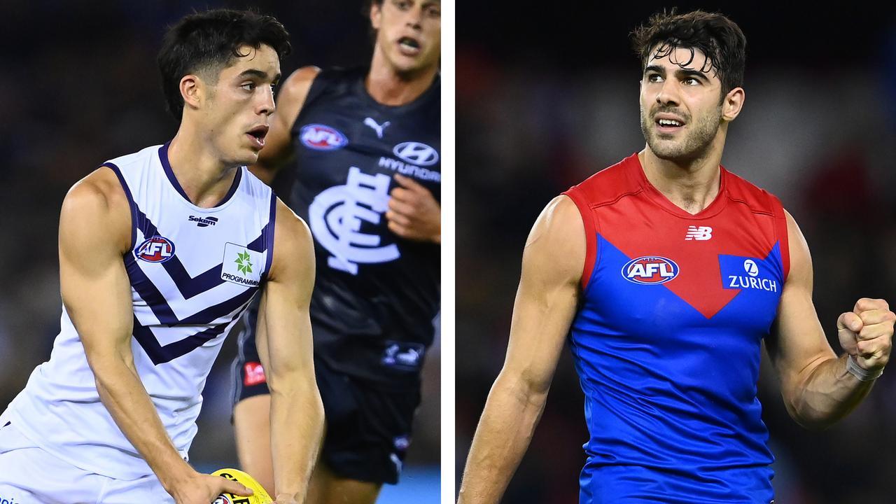 AFL trade whispers: Adam Cerra and Christian Petracca.
