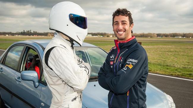 Daniel Ricciardo broke the F1 driver lap record on Top Gear.