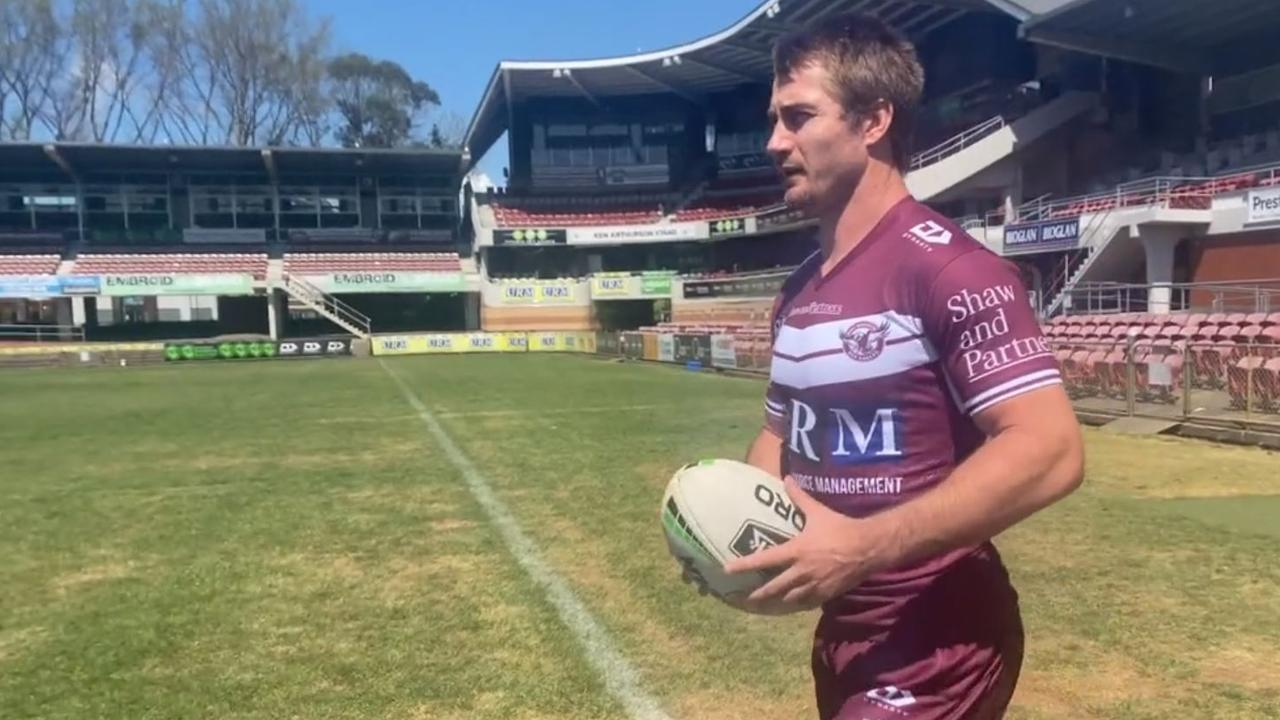 Kieran Foran back in Sea Eagles colours. Picture: Manly Media/Supplied.