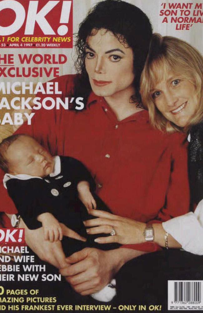 Jackson and Rowe with Prince Michael — one of the few times Rowe would see her young son. Picture: OK!