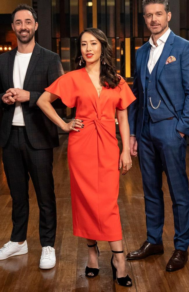 Episode 1: Ted Baker dress, Scanlan Theodore shoes, Mimco earrings. Picture: MasterChef/Channel 10