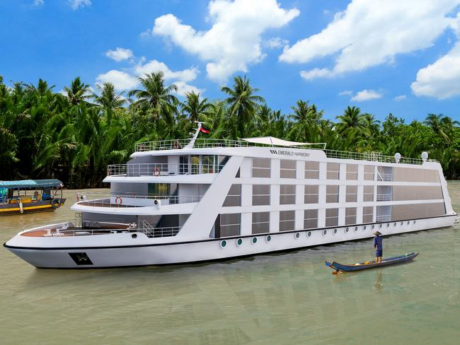 EMERALD HARMONY Evergreen's first star-ship on the Mekong river, Emerald Harmony will feature 42 staterooms and suites, a pool and sun deck. What sets the Harmony apart is that unlike most similar-sized Mekong ships, the ship is built to allow access to the centre of Ho Chi Minh City, meaning cruisers won't need to be bussed in from outside the city.