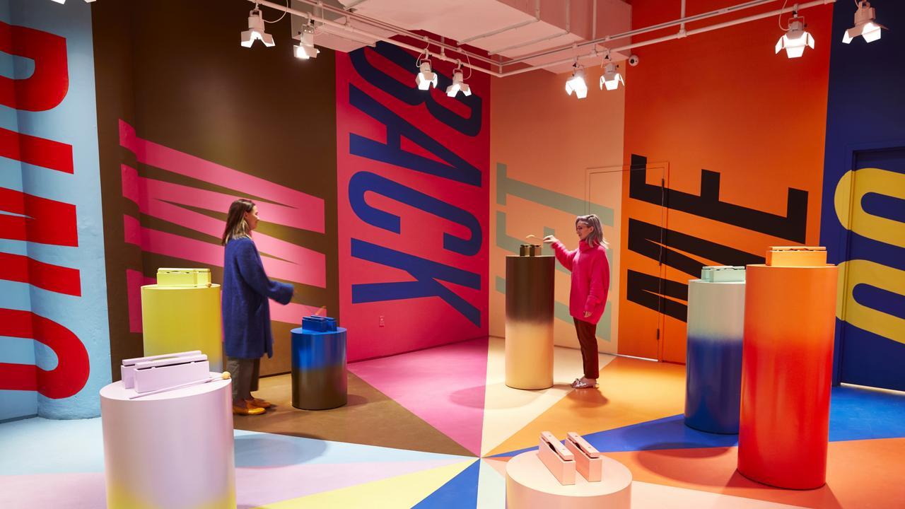 <i>Secret Colors </i>by Molly Young is one of 16 art installations at Color Factory, New York. Picture: The Color Factory