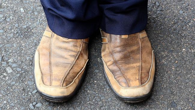Mr Chahoud's trouble making brown shoes. Pic Stephen Cooper