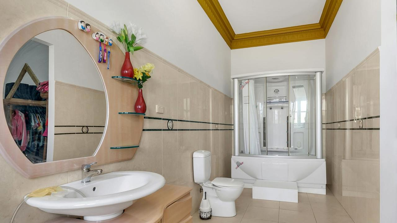 The property also has four bathrooms to choose from …