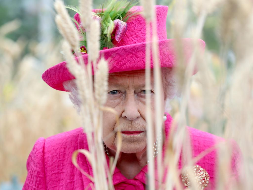 Strike a pose ... Queen Elizabeth II during her visit to the National Institute of Agricultural Botany, where she celebrated the organisation's centenary. Picture: Chris Jackson/Getty Images)